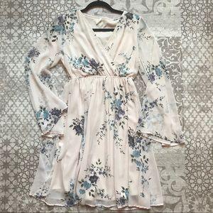 PINKBLUSH Ivory and Floral Maternity Dress, Medium
